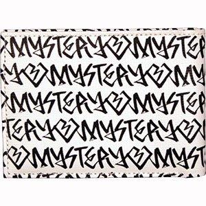 訳アリ・B品 【ミステリー MYSTERY スケボー 財布】 Fat Tip PVC Wallet 【ホワイトxブラック】 NO2