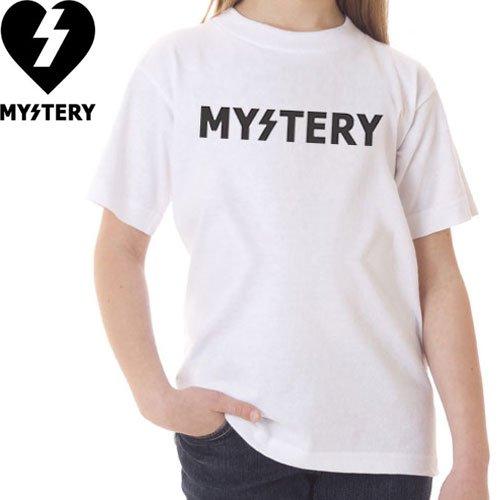 【ミステリー MYSTERY キッズ Tシャツ】Logo Youth Tee【ホワイト】NO4