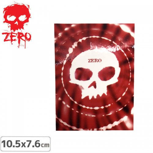 【ゼロ ZERO スケボー ステッカー】SKULL TIE-DYE【10.5cm x 7.6cm】NO16