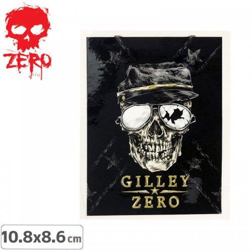 【ゼロ ZERO スケボー ステッカー】GILLEY SKULL【10.8cm x 8.6cm】NO27