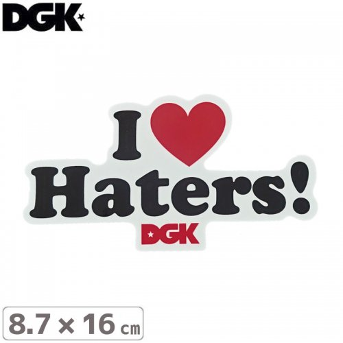 【ディージーケー DGK スケボー ステッカー】I LOVE BITERS 2色【8.7cm x 16cm】NO25