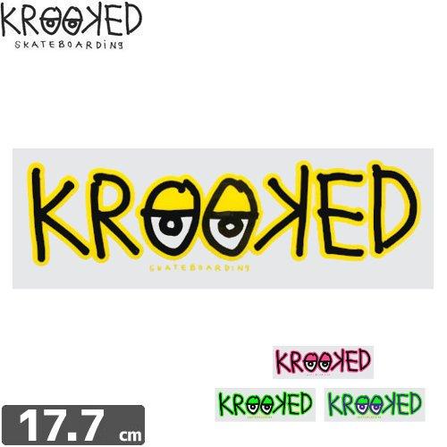 【クルックド KROOKED スケボー ステッカー】LOGO【4色】【5.6cm × 17.7cm】NO02