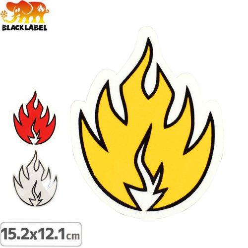 【BLACK LABEL ブラックレーベル ステッカー】FLAME【15.2cm x 12.1cm】NO34