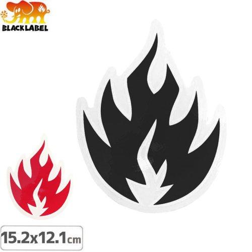 【BLACK LABEL ブラックレーベル ステッカー】FLAME【15.2cm x 12.1cm】NO35