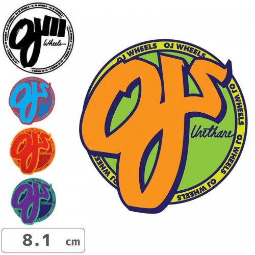 【オージェイ OJ3 スケボー ステッカー】Standard【4色】【8.1cm×8cm】NO04