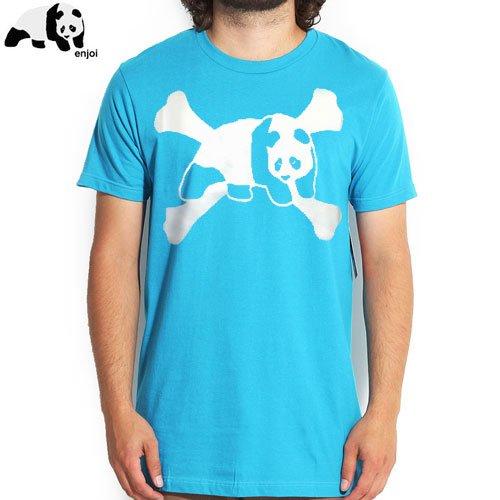 【ENJOI エンジョイ スケートボード Tシャツ】CROSSBONES TEE【ターコイズ】NO47