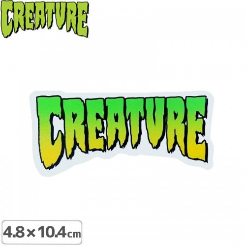 【クリーチャー CREATURE スケボー ステッカー】LOGO【4.8cm x 10.4cm】NO07