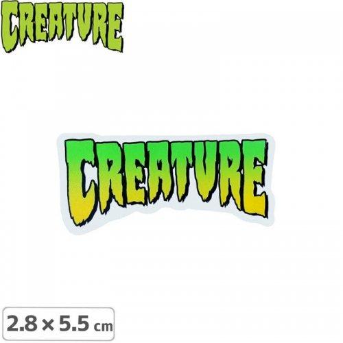 クリーチャー CREATURE スケボー ステッカー】LOGO【2.8cm x 5.5cm】NO08