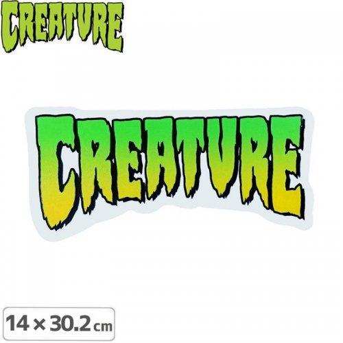 【クリーチャー CREATURE スケボー ステッカー】LOGO【32cm×14cm】NO09