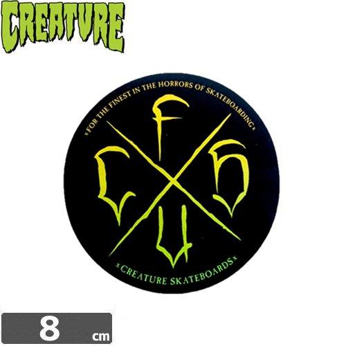 【クリーチャー CREATURE スケボー ステッカー】CIRCLE【8cm x 8cm】NO13