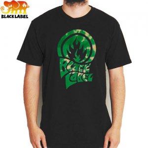 【BLACK LABEL ブラックレーベル スケボー Tシャツ】TRIP FLAME TEE【ブラック】NO17