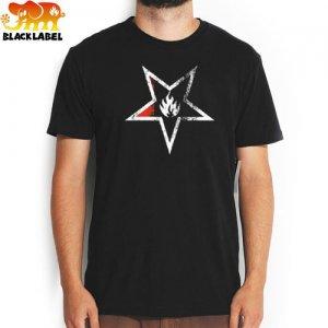 【BLACK LABEL ブラックレーベル Tシャツ スケボー】DEATH STAR TEE【ブラック】NO20