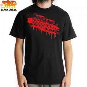 【BLACK LABEL ブラックレーベル Tシャツ スケボー】EMERGENCY BLOOD BATH TEE【ブラック】NO25