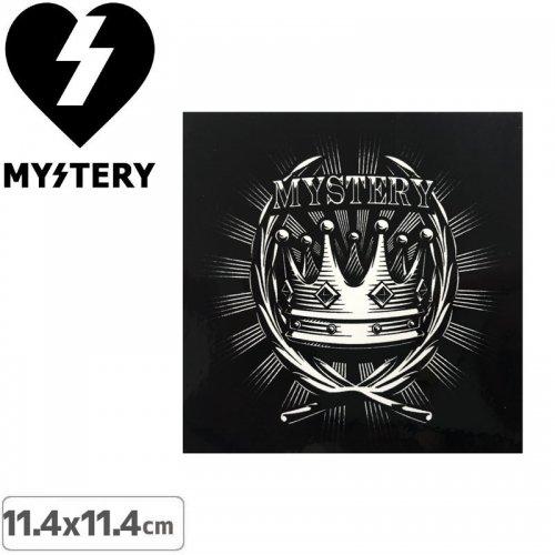 【ミステリー MYSTERY スケボー ステッカー】CROWN【11.4cm × 11.4cm】NO21