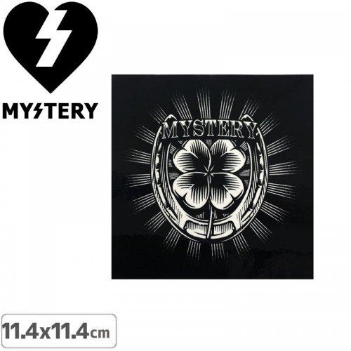 【ミステリー MYSTERY スケボー ステッカー】CLOVER【11.4cmx11.4cm】NO23
