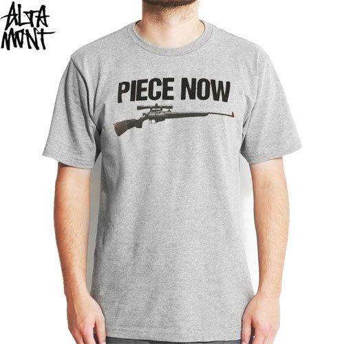 【オルタモント ALTAMONT スケボー Tシャツ】PEACE NOW TEE【グレー】NO2