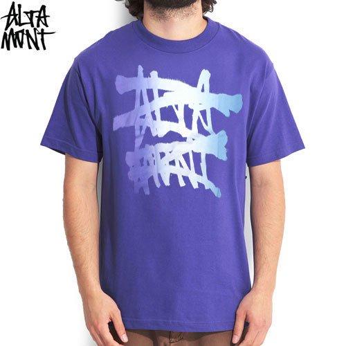 【オルタモント ALTAMONT スケボー Tシャツ】NO LOGO TEE【パープル】NO3