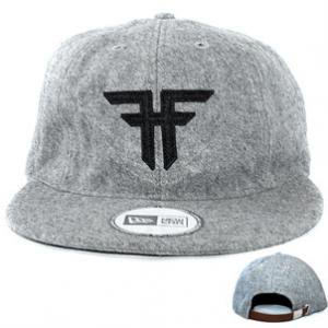 【フォールン FALLEN スケボー キャップ】TRADEMARK VINTAGE NEW ERA(Gray/Black)NO.17