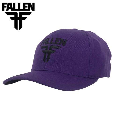 【フォールン Fallenスケボー キャップ】INSIGNIA FIEXFIT CAP【パープル】NO9