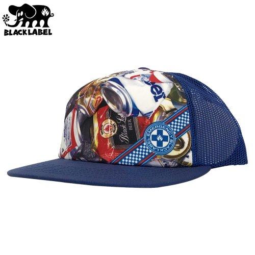 \1週間SALE/【ブラックレーベル BLACK LABEL キャップ】EMERGENCY BEER CAN BEACH TRUCKER HAT【ブルー】NO11
