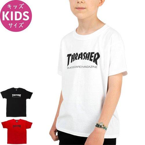 【スラッシャー THRASHER キッズ Tシャツ】USA規格 SKATE MAG YOUTH TEE【ブラック】【レッド】【ホワイト】NO1