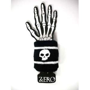 【ゼロ ZERO スケボー リストバンド】ZERO Skull(ブラック/ホワイト)no3