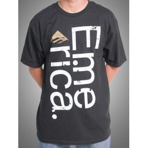 【エメリカ EMERICA スケボー Tシャツ】Sideways Tee【ブラック】NO28