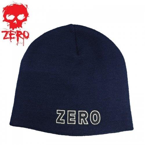 【ゼロ ZERO スケートボード ニットキャップ】BOLD BEANIE【ネイビー】NO06
