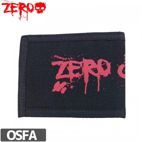 【ゼロ ZERO 財布 ウォレット】Or Die Blood Text Wallet【ブラック】NO4