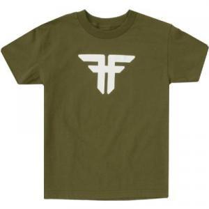 【フォールン FALLEN スケボー キッズTシャツ】Trademark Tee【オリーブ】NO6