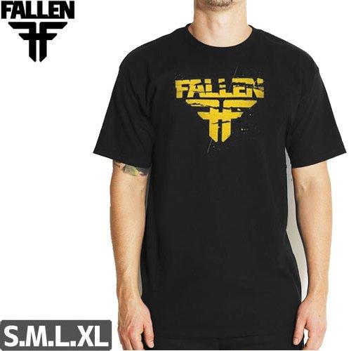 SALE! 【フォールン FALLEN スケボー Tシャツ】Feedback Tee【ブラック/イエロー】NO06