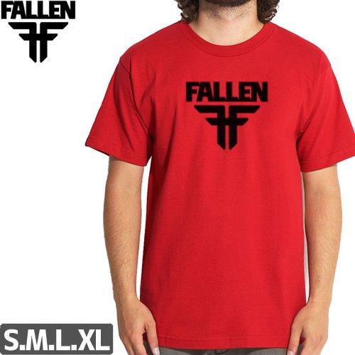 SALE! 【フォールン FALLEN スケボー Tシャツ】Insignia Logo Tee【レッド】NO07