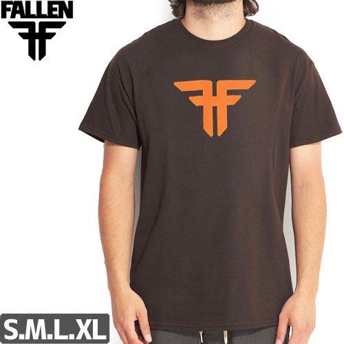 SALE! 【フォールン FALLEN スケボー Tシャツ】Insignia Logo Tee【れっどブラウン】NO08