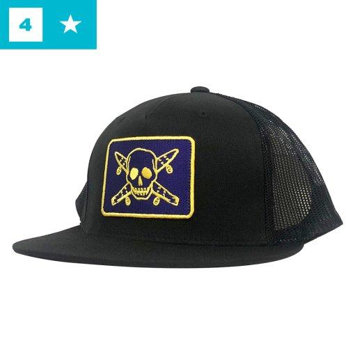 【フォースター FOUR STAR スケボー キャップ】Pirates Mesh Hat【ブラック】NO23