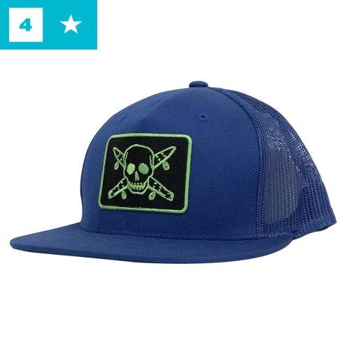 【フォースター FOUR STAR スケボー キャップ】Pirates Mesh Hat【ブルー】NO24