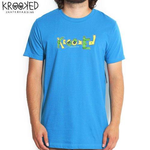 【クルックド KROOKED スケボーTシャツ】KRK SKATEBOARDS TEE【ターコイズ】NO21