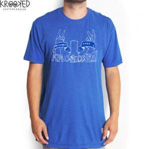 【クルックド KROOKED スケボーTシャツ】OFFICHAULY FREE TEE マークゴンザレス【ロイヤルブルー】NO22