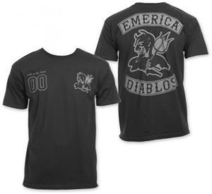 【エメリカ EMERICA スケボー Tシャツ】Team DiablosTee【ブラック】NO57
