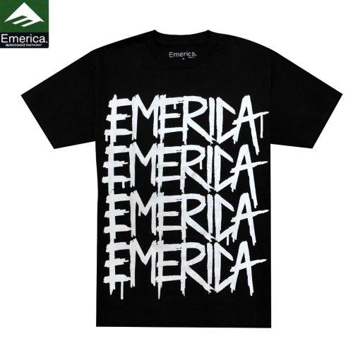 【エメリカ EMERICA スケボー Tシャツ】huck【ブラック】NO75