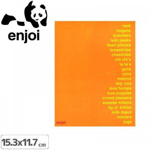【ENJOI エンジョイ ステッカー】ENJOI【15.3cm x 11.7cm】NO44