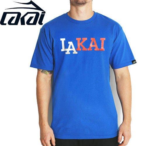 【LAKAI LIMITED FOOTWEAR ラカイ Tシャツ】SPORT TEE【ロイヤルブルー】NO11