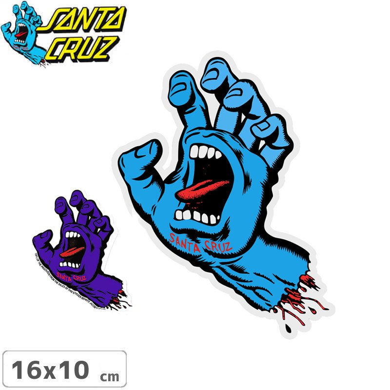 �ڥ��󥿥��롼�� SANTACRUZ �����ܡ� ���ƥå�����SCREAMING HAND 2����16cm x 10cm��No21