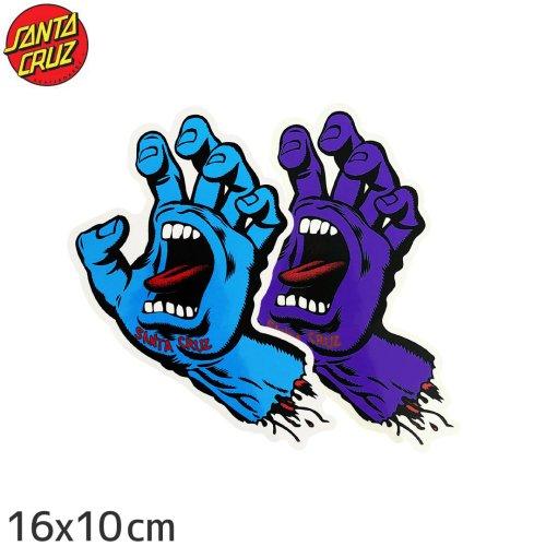 【サンタクルーズ SANTACRUZ スケボー ステッカー】SCREAMING HAND 2色【16cm x 10cm】No21