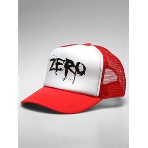 1週間限定セール!【ZERO ゼロスケートボード CAP キャップ】Blood Skull Trucker Hat【レッド】NO.9