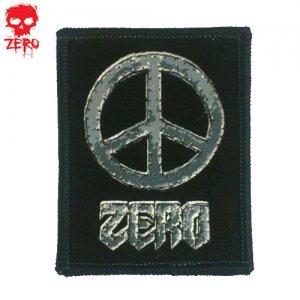【ゼロ ZERO スケボー ワッペン】zero peace【5cm x 6.5cm】NO01