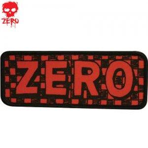 【ゼロ ZERO スケボー ワッペン】zero checker【5cm x 12.5cm】NO04