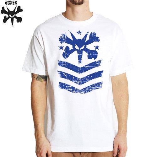 【ボーンズ BONES スケボー Tシャツ】PRIDE TEE【ホワイト x ブルー】NO17