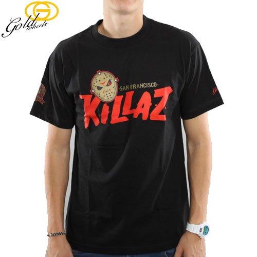 【GOLD WHEELS ゴールド スケボー Tシャツ】KILLAZ TEE キラズ【ブラック】NO89