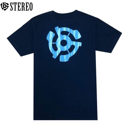 Stereo T-shirt ステレオ T-シャツ【ネイビー】No003