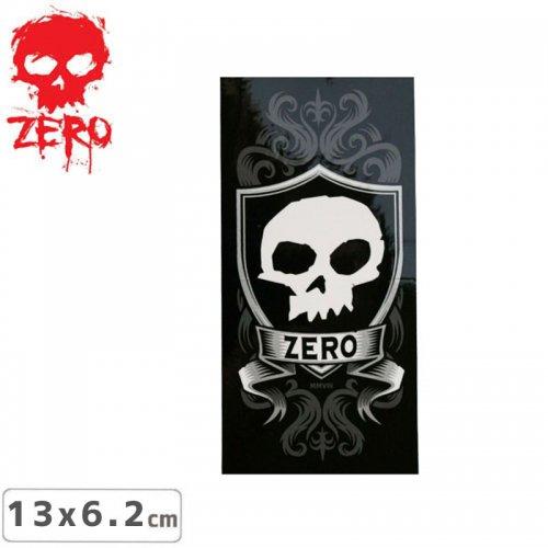 【ゼロ ZERO スケボー ステッカー】SKULL & SHIELD【13cm x 6.2cm】NO42